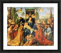 Feast of the Rose Garlands Picture Frame print