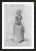Nuremberg woman in house dress Picture Frame print