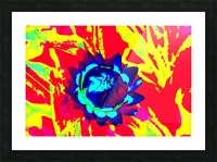 Graphic Flower Effect 2 Picture Frame print