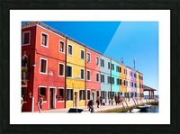 Colorful Venice Houses Picture Frame print
