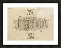 Albrecht Durer Ambigram Picture Frame print