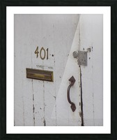 Weathered Door Picture Frame print