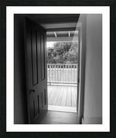 Open Door Black & White Picture Frame print