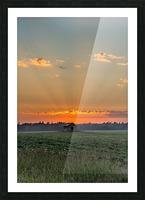 Sunset Hut Picture Frame print