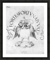 Fortes fortuna Ivvat Picture Frame print