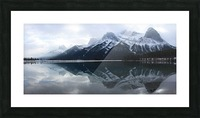 Canmore Winter Mountain Panorama Picture Frame print