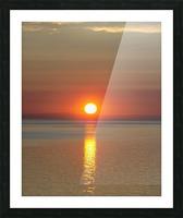 Orange Sunset Vertical Picture Frame print