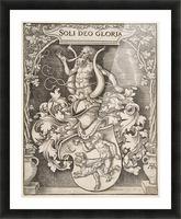 Coat of Arms of Johann Tscherte Picture Frame print