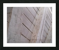 Wooden Beams Picture Frame print