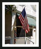 Patriotic Barber Shop Picture Frame print