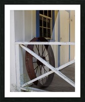 Wagon Wheel on Porch Picture Frame print