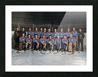 RCAF Flyers - Canadian Olympic Hockey Team October 29 1947 Picture Frame print