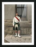 RSM David Nelson 72nd Regt. Seaforth Highlanders of Canada c.1913 Picture Frame print