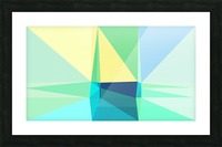 abstract colorful geometric shapes Picture Frame print
