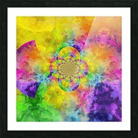 Colorful Fractal Picture Frame print