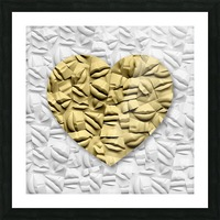 HEART OF GOLD Picture Frame print