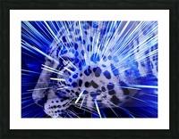 Leopard pop 4  Picture Frame print