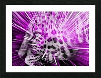 Leopard pop 3 Picture Frame print