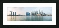 Panorama of Singapore skyline at sunrise Picture Frame print