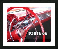 1957 Bel Air Interior - Route 66 Chrome Picture Frame print