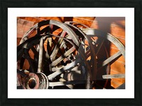 Wagon Wheels.05 Picture Frame print