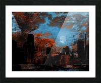 NYC Waterfront Abstraction Picture Frame print