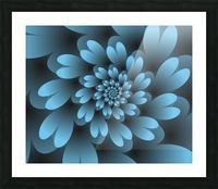 Blue Floral Satin Wallpaper Picture Frame print