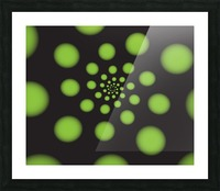 Green Spiral Dots Picture Frame print
