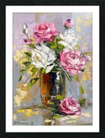 Bouquet of delicate roses Picture Frame print