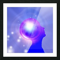 Human Head with Light Picture Frame print