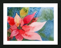 Poinsettia Picture Frame print