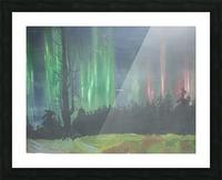 Aurora Borealis Picture Frame print