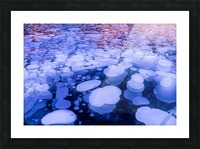 Abraham Lake Bubbles Picture Frame print