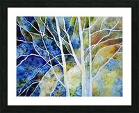 Birches Picture Frame print