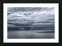 Lightning Over Lake Titicaca Picture Frame print