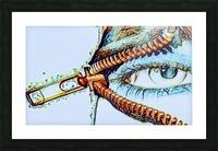 zipper eye Picture Frame print
