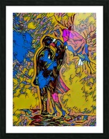 abstract love Picture Frame print