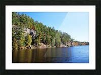 Key River Shore In Fall II Picture Frame print