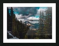 Cascade Mountain Through The Trees Picture Frame print
