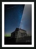 Abandoned House Milky Way   Hi Res   A3 Picture Frame print