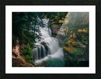 Johnson Canyon Trail Falls Long Exposure Picture Frame print