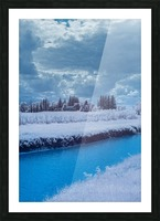 Infrared River Picture Frame print