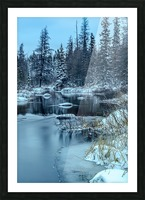 River and snow Picture Frame print