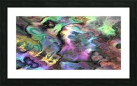 Dark Rainbow Marble multicolor abstract pattern wall art Picture Frame print