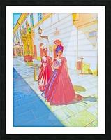 Purple Baroque Picture Frame print