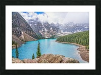 Moraine Lake in Banff National Park BC Picture Frame print