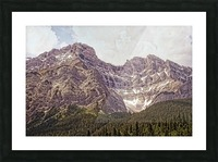 Cascade Mountain in Banff National Park BC Picture Frame print