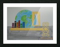 ahson_qazi_books_keyhole_globe_symbolic_education__by_ahsonqazi_dciso5y fullview Picture Frame print