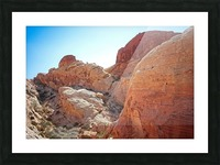 The White Domes View 2 Picture Frame print