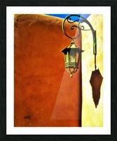 Lantern Shadow Picture Frame print
